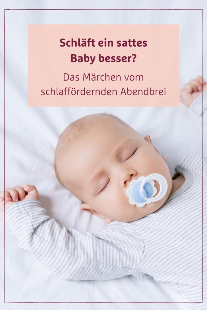 Schläft mein Baby mit Abendbrei besser?